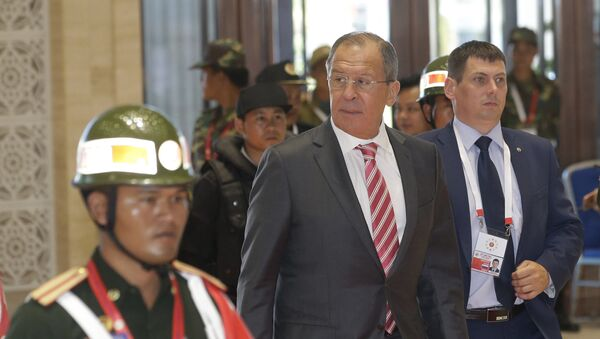 Russian Foreign Minister Sergey Lavrov arrives for the Association of Southeast Asian Nations (ASEAN) Foreign Ministers' Meeting in Vientiane, Laos, Monday, July 25, 2016. - Sputnik International
