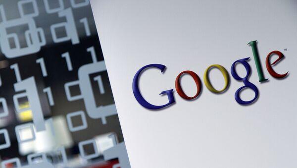 Google logo is seen at the Google headquarters in Brussels. (File) - Sputnik International