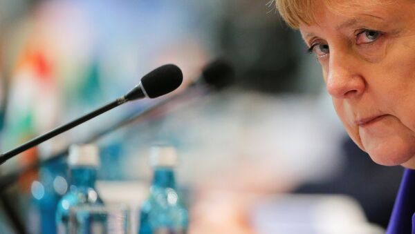 German Chancellor Angela Merkel attends the opening session of the Asia-Europe Meeting (ASEM) summit in Ulaanbaatar, Mongolia, July 15, 2016. - Sputnik International