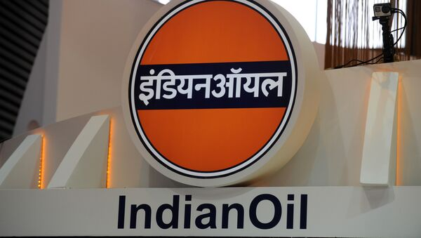 Logo of the Indian Oil Corporation during the World Gas Conference exhibition in Paris. (File) - Sputnik International