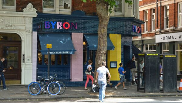 Byron Burger shop in London. - Sputnik International