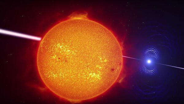 Artist's impression video of the exotic binary star system AR Scorpii - Sputnik International