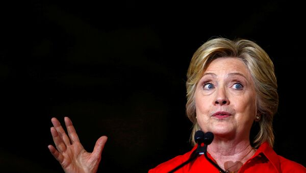 Democratic presidential candidate Hillary Clinton speaks at Johnstown Wire Technologies in Johnstown, Pennsylvania, July 30, 2016. - Sputnik International