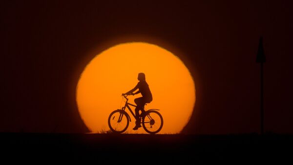 A girl riding a bike - Sputnik International