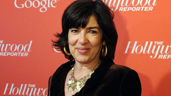 Christiane Amanpour arrives at a red carpet event hosted by Google and the Hollywood Reporter, on the eve of the annual White House Correspondents' Association dinner in Washington. (File) - Sputnik International