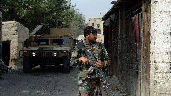 Afghan security forces patrol. (File) - Sputnik International