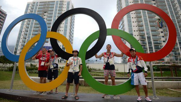 Russian athletes at the Olympic village in Rio de Janeiro - Sputnik International