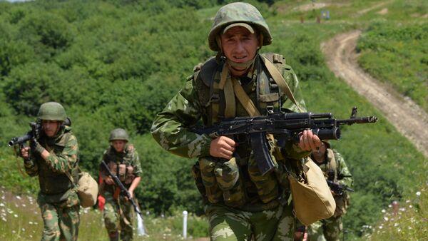 Servicemen of the mountain motorized infantry brigade. File photo - Sputnik International