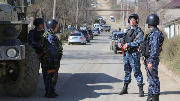 Police officers during a raid in Dagestan. File photo - Sputnik International