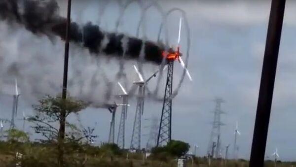 Windmill Fire Live Video Palladam Tamilnadu 2016 - Sputnik International