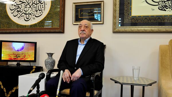 Islamic cleric Fethullah Gulen speaks to members of the media at his compound, Sunday, July 17, 2016, in Saylorsburg, Pa - Sputnik International