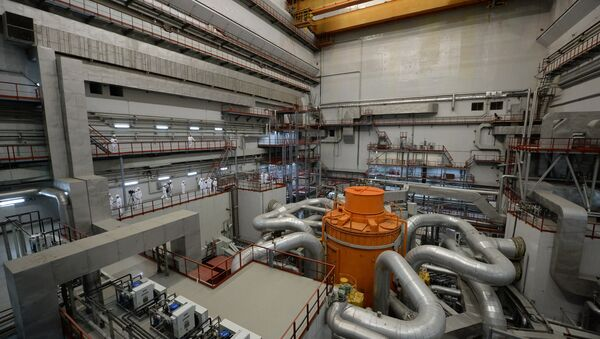 The central hall of the fourth generating unit with a BN-00 nuclear reactor at the Beloyarskaya Nuclear Power Plant in Zarechny, Sverdlovsk Region - Sputnik International
