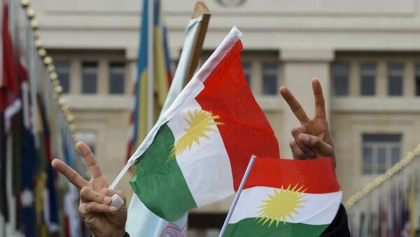 Flags of Kurdistan. (File) - Sputnik International
