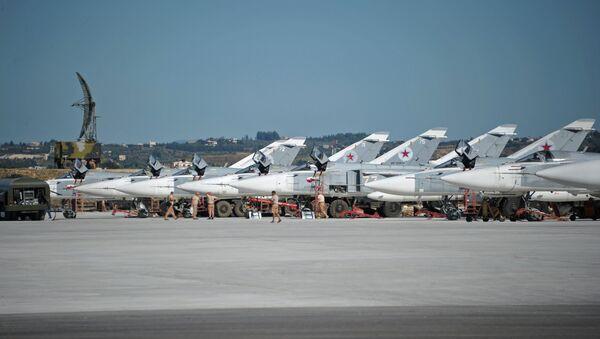 Russian military aviation at Khmeimim airbase in Syria - Sputnik International