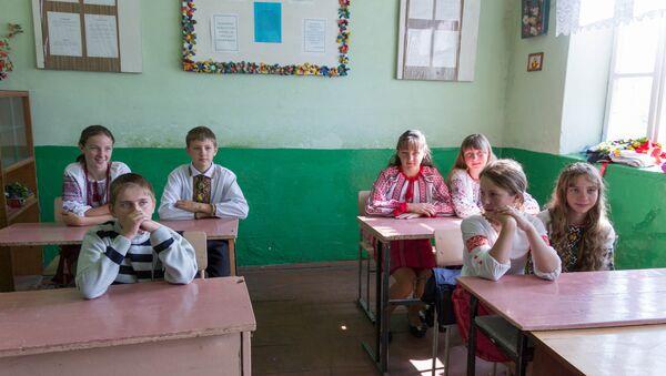 Students at a school in Ukraine, file photo. - Sputnik International