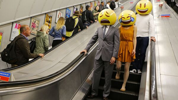 Emoji characters around London - Sputnik International