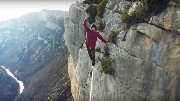 French tightrope walker Tancred Mele - Sputnik International