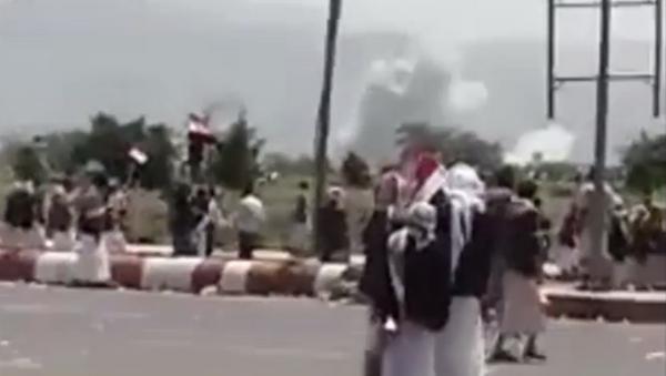 Saudi airstrikes target Houthi rally in Yemen on August 20 - Sputnik International
