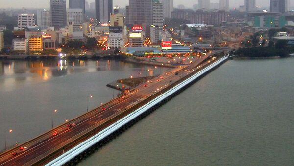 The Johor-Singapore Causeway as viewed from the Woodlands Checkpoint in Singapore towards Johor Bahru, Malaysia. - Sputnik International