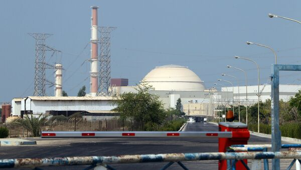 A general view shows the reactor building at the Bushehr nuclear power plant in southern Iran, 1200 kms south of Tehran, on August 20, 2010 - Sputnik International