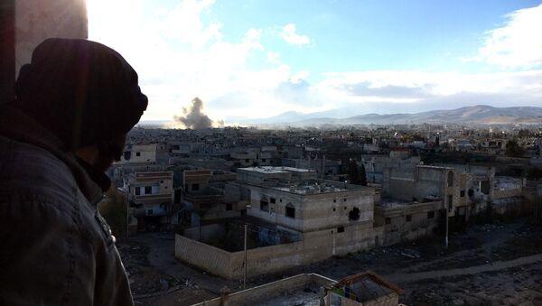 Syrian army fights in Syria's Daraya - Sputnik International