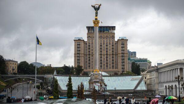 Monument of Independence of Ukraine on Independence Square in Kiev - Sputnik International