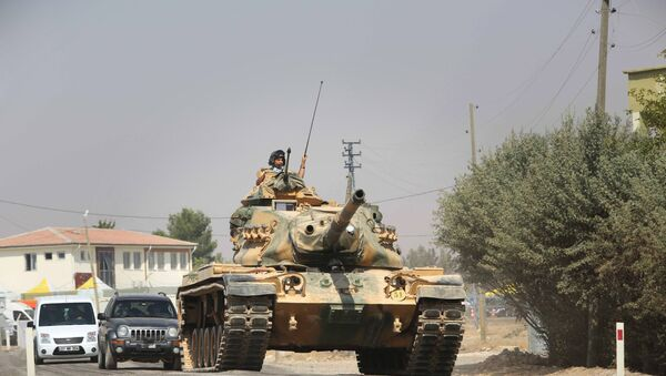 Turkish tanks and armored vehicles in Jarabulus - Sputnik International
