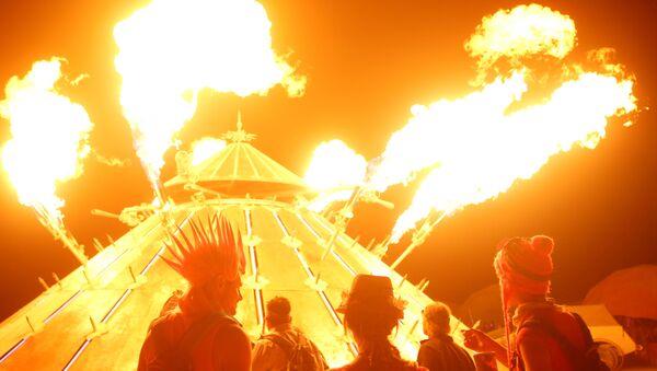Dusty Nevada Desert Arouses Parallel Universe at Burning Man Festival - Sputnik International