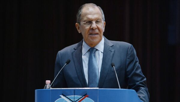 Foreign Minister Sergey Lavrov speaks at a meeting with students and faculty of the Moscow Institute of International Relations (MGIMO) to mark the beginning of a new academic year - Sputnik International