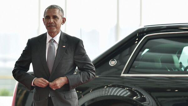 US President Barack Obama arrives to attend the G20 Summit in Hangzhou, Zhejiang province, China, September 4, 2016 - Sputnik International