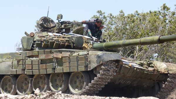 Syrian army in Aleppo province - Sputnik International