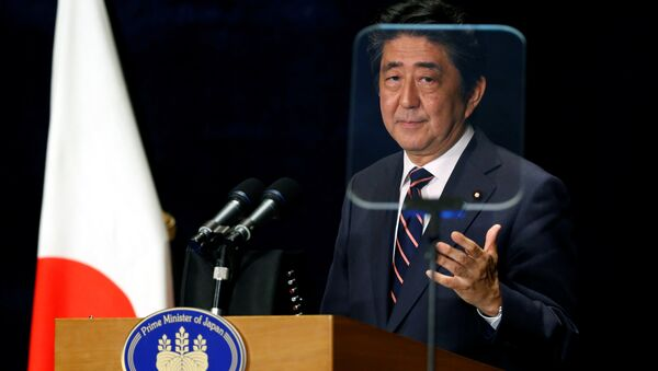 Japan's Prime Minister Shinzo Abe attends a news conference during the G20 Summit in Hangzhou, Zhejiang Province, China, September 5, 2016 - Sputnik International