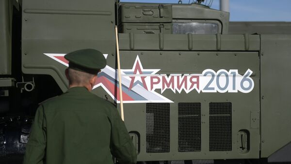 The Army-2016 forum organized by the Russian Defense Ministry kicked off earlier in the day and will last through Sunday. The forum is held in the military-themed Patriot Park in Kubinka near Moscow and in a number of locations in Russian military districts. - Sputnik International