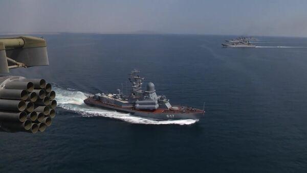 Black Sea Navy Fleet and the Caspian Flotilla took part in Kavkaz-2016 strategic troops exercise - Sputnik International