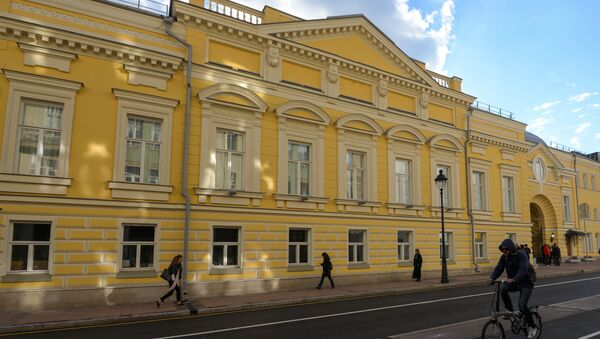 The restored facade of the historical building of the Moscow Helikon Opera Musical Theater - Sputnik International