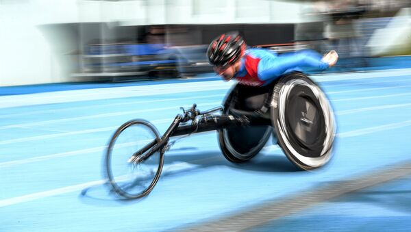 Natalia Kocherova during the women's 800m race in athletics competition at the Russian Paralympic competition - Sputnik International