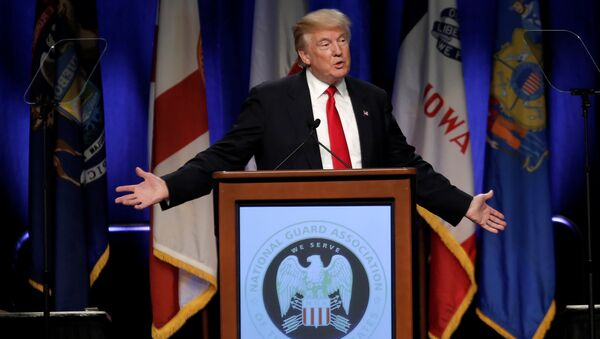 Republican presidential nominee Donald Trump speaks at the National Guard Association of the United States 138th General Conference and Exhibition in Baltimore, Maryland, U.S., September 12, 2016. - Sputnik International
