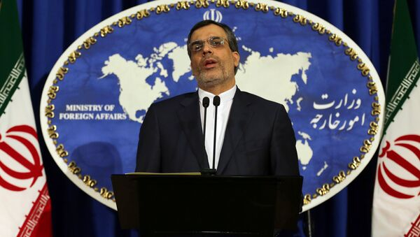 Newly-appointed spokesman of Iran's Foreign Ministry, Hossein Jaberi Ansari speaks during a weekly press conference on December 14, 2015 in the capital Tehran - Sputnik International