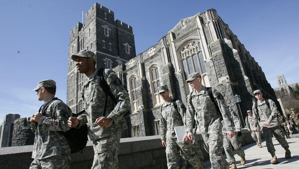 US Army cadets make their way through campus at the United States Military Academy in West Point. (File) - Sputnik International