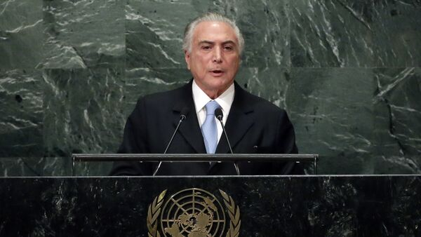 Brazil's President Michel Temer addresses the 71st session of the United Nations General Assembly, at U.N. headquarters - Sputnik International