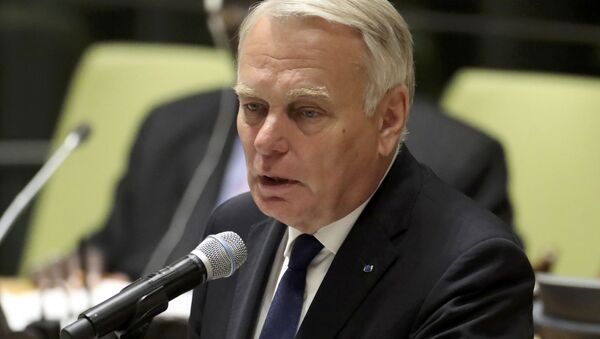 France's Minister for Foreign Affairs Jean-Marc Ayrault speaks during a high-level meeting on addressing large movements of refugees and migrants at the United Nations General Assembly in Manhattan, New York, US September 19, 2016. - Sputnik International