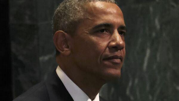 U.S. President Barack Obama sits after addressing the United Nations General Assembly in the Manhattan borough of New York, U.S., September 20, 2016. - Sputnik International