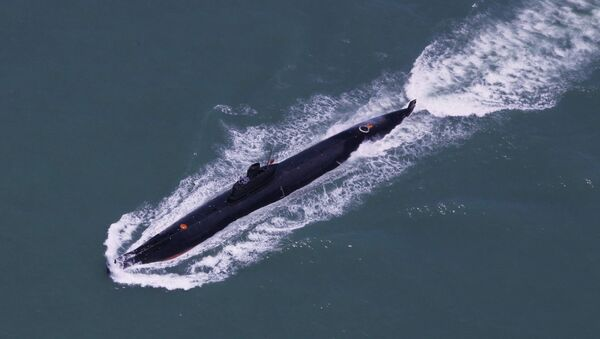 Submarine of the People's Liberation Army Navy's Nanhai Fleet taking part in a marine training session in the South China Sea (File) - Sputnik International