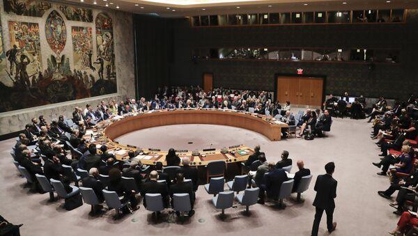 (File) Members of the Security Council meet at U.N. headquarters - Sputnik International