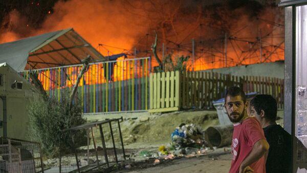 Fire At Moria Refugee Camp, Island of Lesbos - Sputnik International