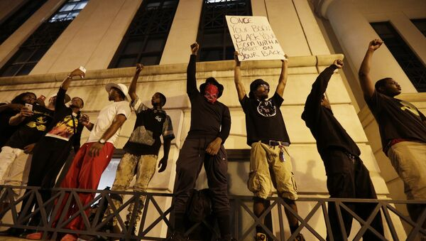 9/21 Charlotte Protesters After The Shooting Of Keith Lamont Scott - Sputnik International