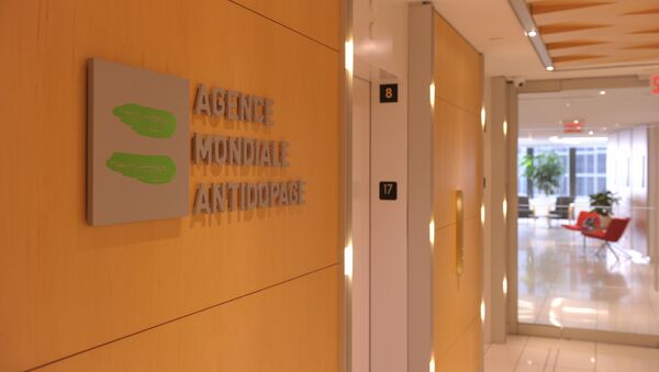 Picture of the logo of World Anti-Doping Agency or Agence Mondiale Antidopage (WADA)taken on September 20, 2016 at the headquarter of the organisation in Montreal - Sputnik International