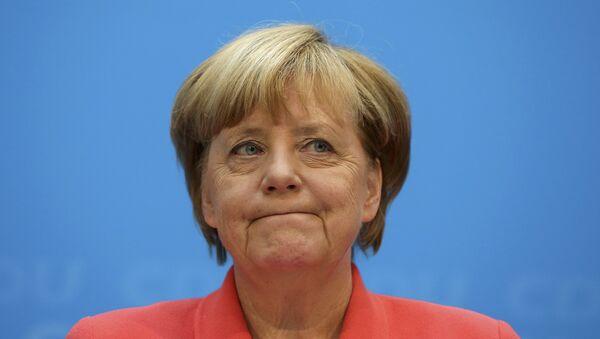 German Chancellor and chairwomen of the Christian Democratic Union (CDU) Angela Merkel addresses a news conference in Berlin, Germany, September 19, 2016. - Sputnik International