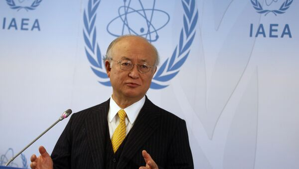 Director General of the International Atomic Energy Agency, IAEA, Yukiya Amano of Japan addresses the media during a news conference after a meeting of the IAEA board of governors at the International Center in Vienna, Austria. (File) - Sputnik International