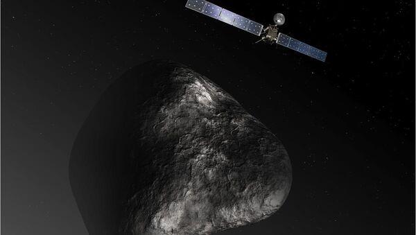 Artist impression of the Rosetta orbiter at comet 67P/Churyumova-Gerasimenko. The image is not to scale. - Sputnik International